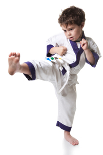 Little Ninjas Boy Kicking